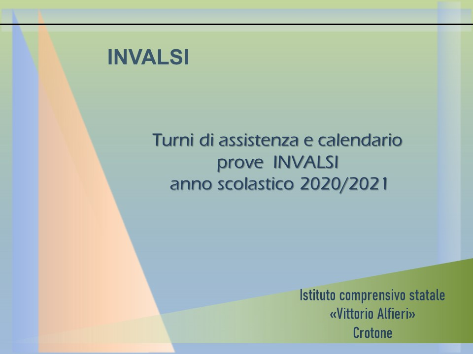 INVALSI A.S. 2020/2021